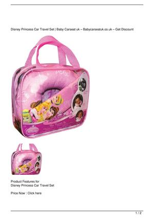 Disney Princess Car Travel Set Promo Offer