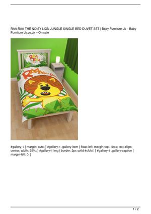 RAA RAA THE NOISY LION JUNGLE SINGLE BED DUVET SET Big SALE