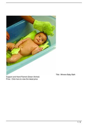 Minene Baby Bath Support and Hand Flannel (Green Animal) Discount !!