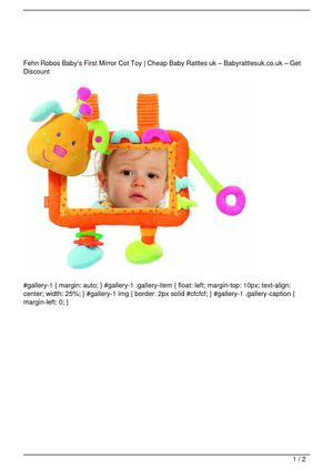 Fehn Robos Baby's First Mirror Cot Toy On Sale