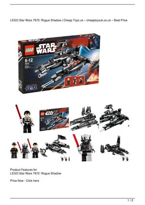 LEGO Star Wars 7672: Rogue Shadow SALE