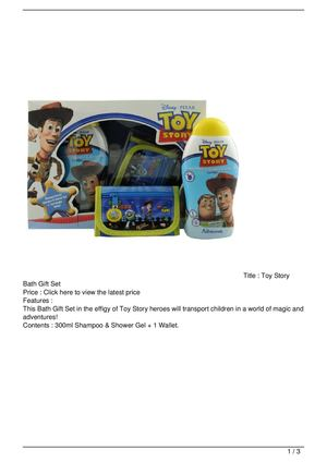 Toy Story Bath Gift Set Get Rabate