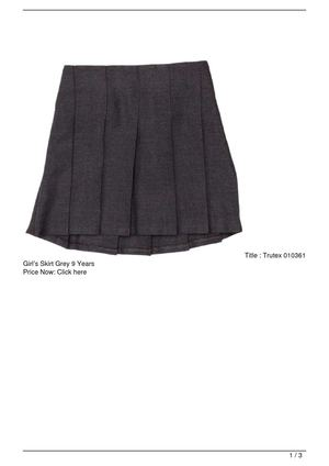 Trutex 010361 Girl's Skirt Grey 9 Years SALE
