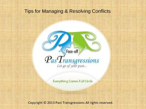 Tips for Managing & Resolving Conflicts