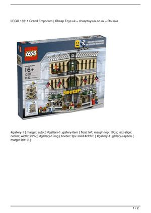 LEGO 10211 Grand Emporium Big SALE