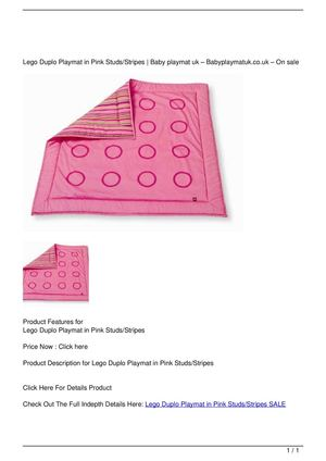Lego Duplo Playmat in Pink Studs/Stripes SALE