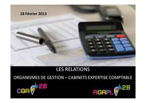 LES RELATIONS ORGANISMES DE GESTION AGREES - CABINETS EXPERTISE COMPTABLE