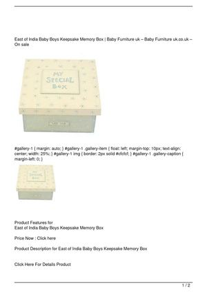 East of India Baby Boys Keepsake Memory Box Discount !!