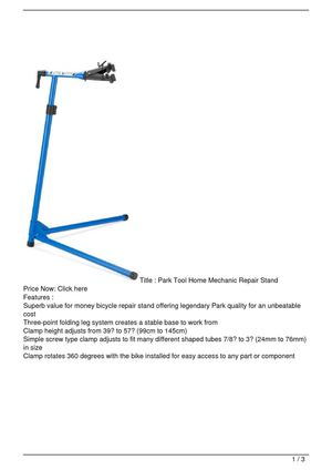 Park Tool Home Mechanic Repair Stand SALE