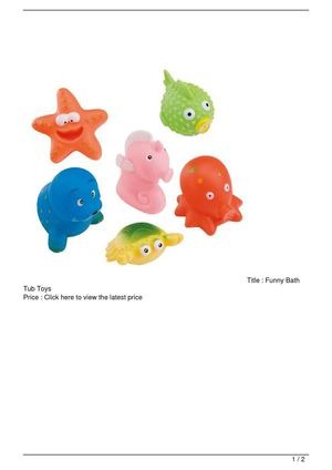 Funny Bath Tub Toys On Sale