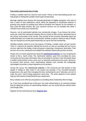Calaméo - Lovevivah: Free Matrimony Services India