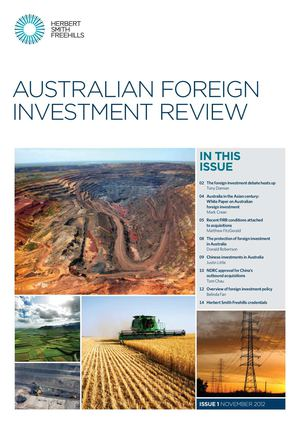 Australian Foreign Investment Review Nov 2012