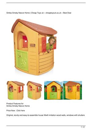 Simba Smoby Nature Home On Sale