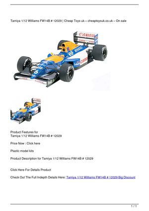 Tamiya 1/12 Williams FW14B # 12029 Big Discount