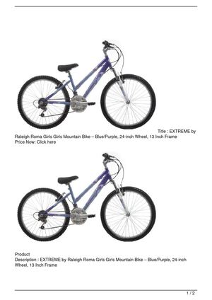 EXTREME by Raleigh Roma Girls Girls Mountain Bike – Blue/Purple, 24-inch Wheel, 13 Inch Frame Big Discount
