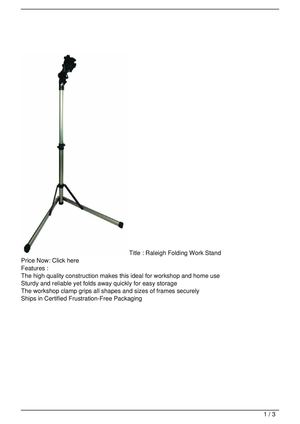 Raleigh Folding Work Stand Promo Offer