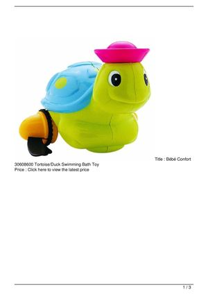 Bébé Confort 30608600 Tortoise/Duck Swimming Bath Toy Big SALE