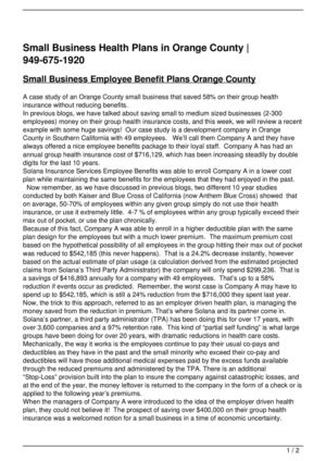 Small Business Health Plans in Orange County | 949-675-1920