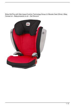 Britax Kid Plus with Side Impact Cushion Technology Group 2-3 Booster Seat (Olivia) Big Discount