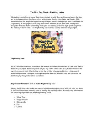 The Best Dog Treat – Birthday cakes