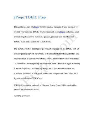 TOEIC Guide