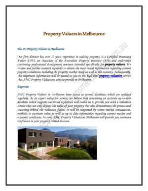 Property Valuers in Melbourne