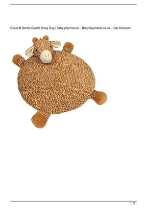Cloud B Gentle Giraffe Snug Rug Big SALE