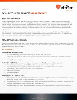 Mobile Security for Business by TotalDefense