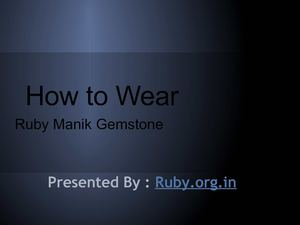 How to wear Ruby Gemstone from - Ruby.org.in