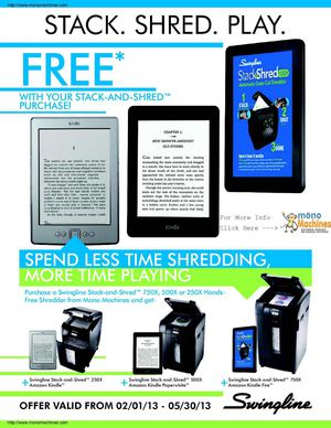 Free Kindle with 500X Purchase