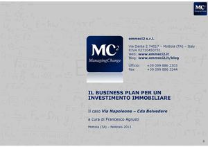 Il business plan per un investimento immobiliare