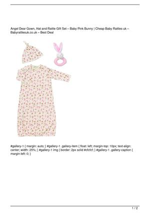 Angel Dear Gown, Hat and Rattle Gift Set – Baby Pink Bunny Big Discount