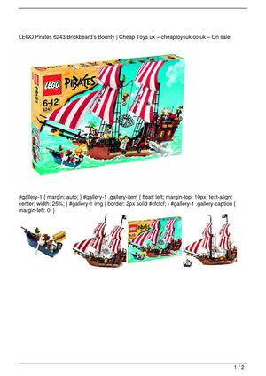 LEGO Pirates 6243 Brickbeard's Bounty Get Rabate