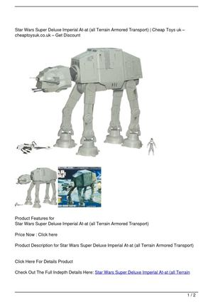 Star Wars Super Deluxe Imperial At-at (all Terrain Armored Transport) Big SALE