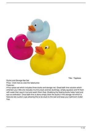 Tippitoes Ducks and Storage Net Set On Sale