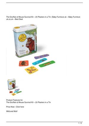 The Gruffalo & Mouse Survival Kit – 20 Plasters in a Tin Promo Offer