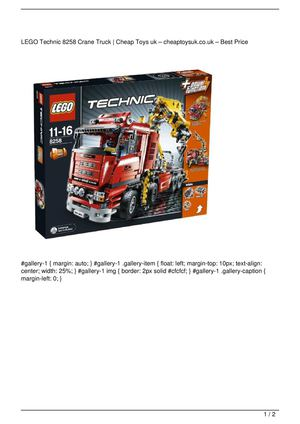 LEGO Technic 8258 Crane Truck On Sale