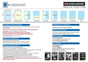 The Africa Report - Technical requirements