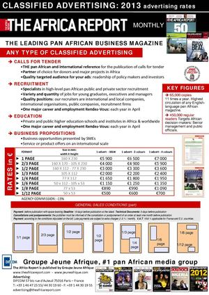 The Africa Report - Classified advertising rates card