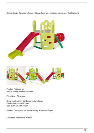 Simba Smoby Adventure Tower SALE