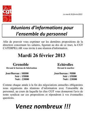 Calamo Invitation runion dinformation du 26 fvrier