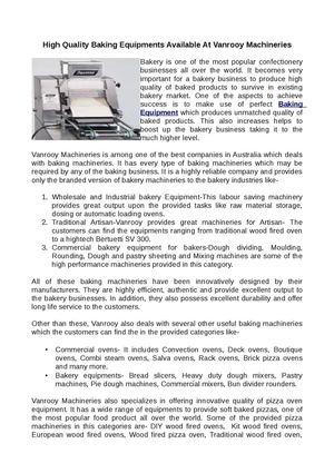 Calaméo - Baking Equipment, Pizza Equipment