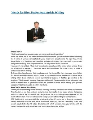 Professional article writing essay answer for mba application