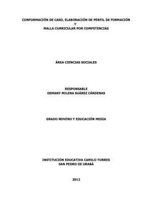 Calaméo Malla Curricular Sociales Completa De 1 11