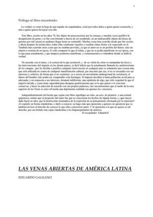 Calaméo - Eduardo Galeano - Las venas abiertas de América Latina
