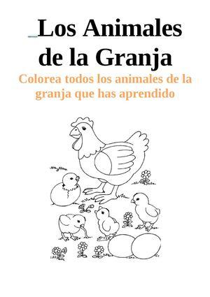 Calaméo - Los Animales de la Granja para colorear