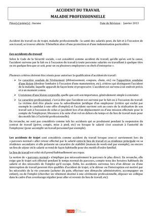 Calameo Accident De Travail Et Maladie Professionnelle
