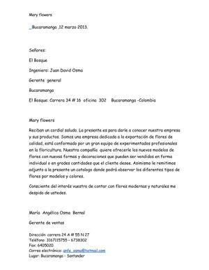 Calameo Carta De Presentacion De La Empresa Maria