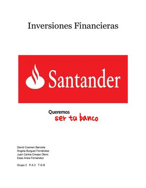 Documento Inversiones Financieras TGB