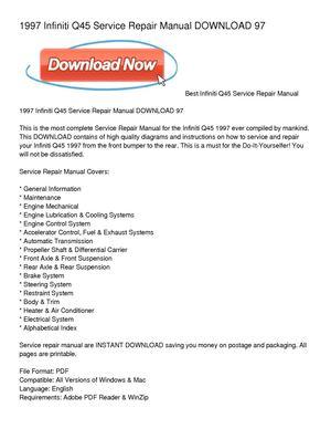 calam o 1997 infiniti q45 service repair manual download 97 rh calameo com 1997 infiniti q45 owner's manual 1995 Infiniti Q45